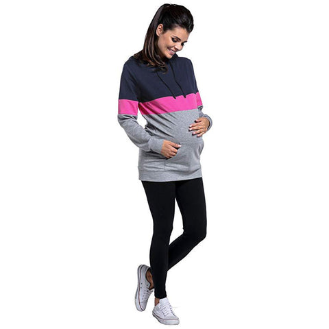 Autumn Multi-Functional Bally Breastfeeding Top Nursing Hoodie | Edlpe