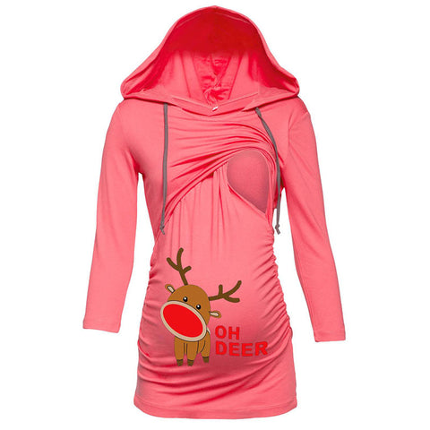 Christmas Pregnant Woman Breastfeeding Suit Nursing Hoodies | Edlpe