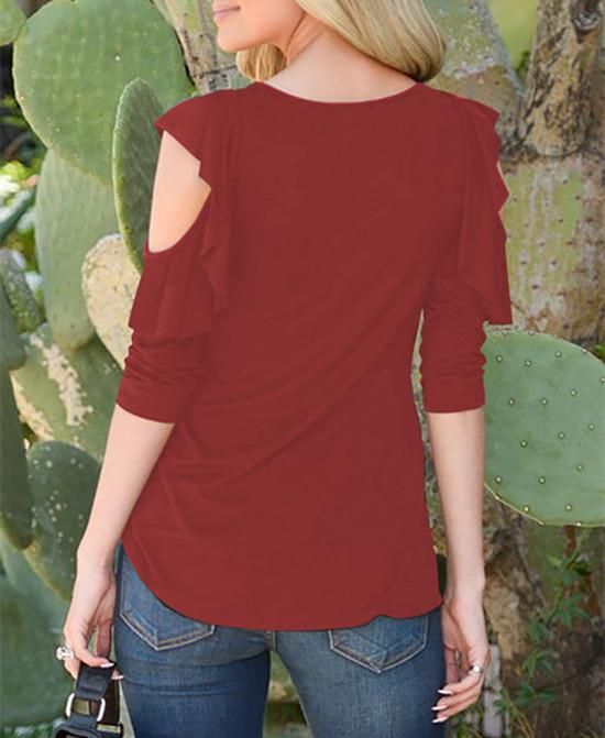 Women Sexy Cold Shoulder T-Shirt Ladies Summer Casual Elegant Short Sleeve Tops Blouse | Edlpe