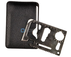 Multi Tool 11 in 1 Hunting Survival Pocket Credit Card Knife Stainless Steel