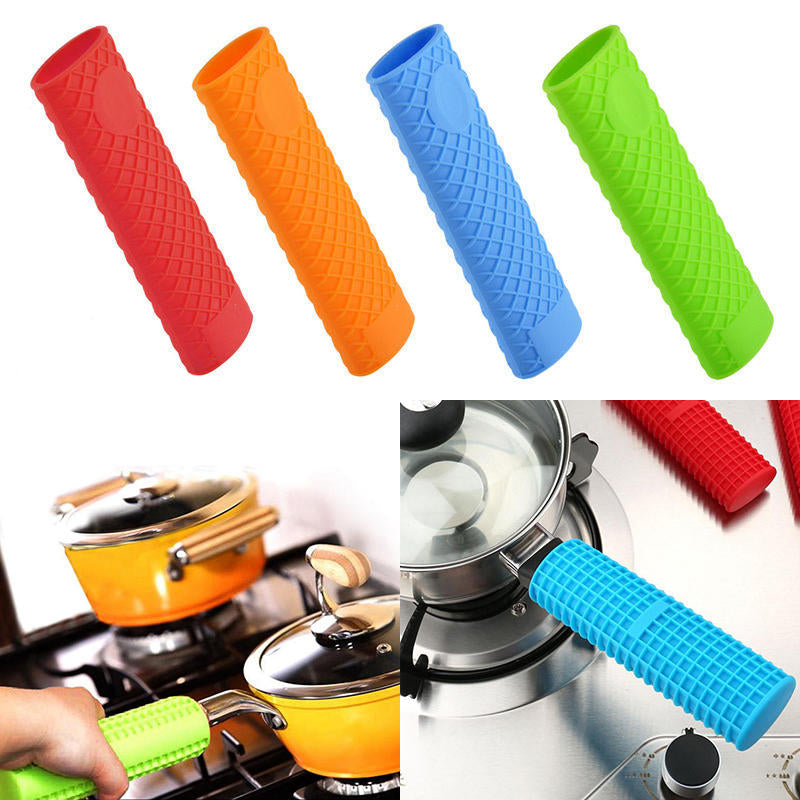 Silicone Pot Pan Handle Holder Sleeve Cover Grip Hot Sleeve Kitchen Utensil | Edlpe