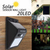 Image of Led Solar Power Motion Sensor Wall Light Outdoor Waterproof Energy Saving Lamp | Edlpe