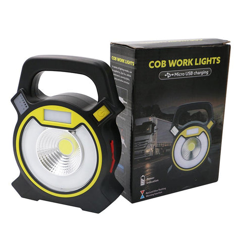 Usb Rechargeable Cob Led Flood Light 4 Modes Garden Work Security Spot Lamp | Edlpe
