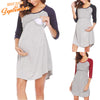 Image of Casual Breastfeeding Raglan Half Sleeeves Maternity Loose Dress | Edlpe