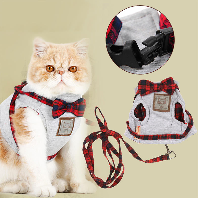 Pet Dog Puppy Leash Collar Vest Mesh Harness Traction Chest Strap Braces Clothes | Edlpe