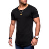 Image of Mens Summer Short Sleeve Muscle T-Shirt Slim Fit O Neck Casual Solid Tops Plus Size | Edlpe