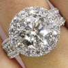 Image of Women Crystal Wedding Engagement Band Micro Diamond Rings Jewelry Gifts | Edlpe