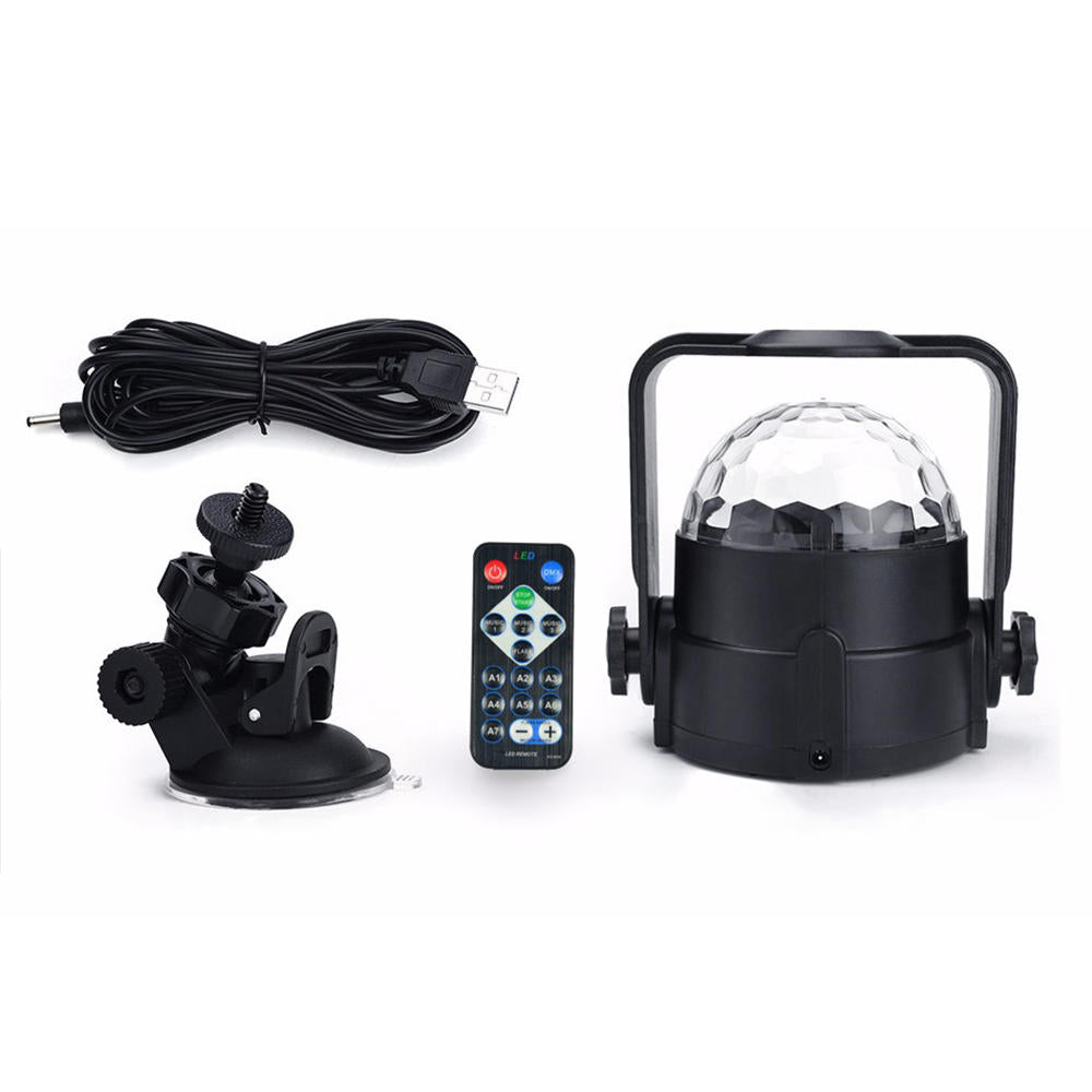 Rgb Led Disco Home Party Crystal Magic Ball Stage Effect Light Laser Lamp Remote | Edlpe