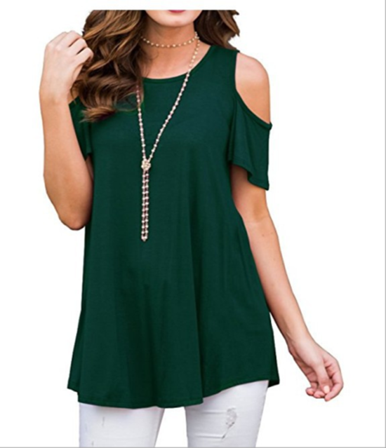 S-5Xl Plus Size Women Summer Short Sleeve Tops Casual T-Shirt Plain Round Neck Loose Blouse 7 Color | Edlpe