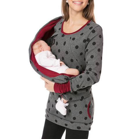 Fashion Printed Breastfeeding Sweater Nursing Hoodies | Edlpe