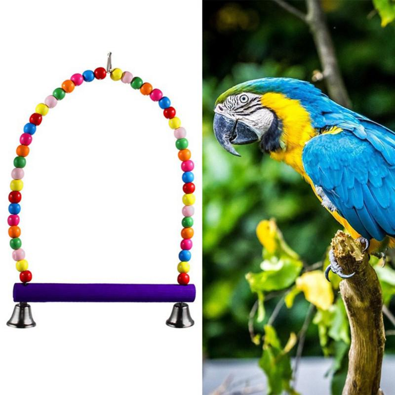 Fashion Colorful Bird Toy Parrot Swing Cage Toy Cockatiel Budgie Birds Parrots Swings | Edlpe