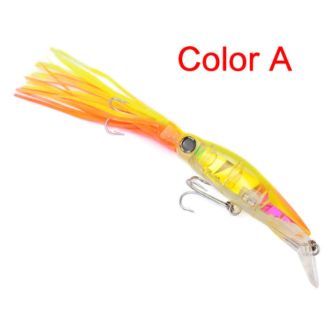 Fishing Lures 5.5/40G Fishing Tackle 6 Colors Squid Drop Shot Soft Lure Baits | Edlpe