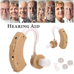 Digital Hearing Aid Sound Amplifier with 3 Different Size Earplugs Voice