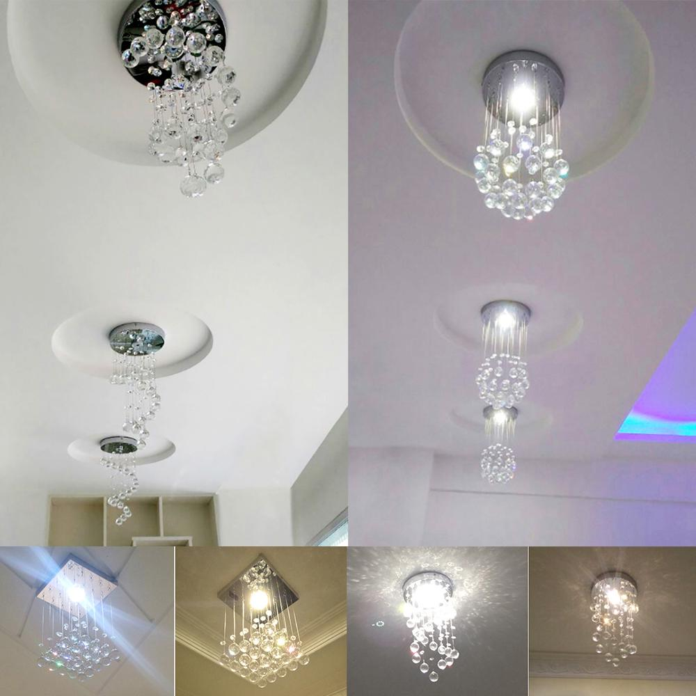 Modern Led Crystal Ceiling Light Pendant Lamp Aisle Fixture Lighting Chandelier | Edlpe
