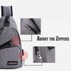 Image of Usb Design Sling Handbag Crossbody Drop Shipping Charging Chest Bag | Edlpe