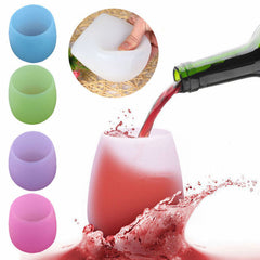 Silicone Red Wine Glass Unbreakable Outdoor Stemless Beer Whiskey Portable Cups | Edlpe