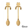 Image of Stainless Steel Cat Coffee Drink Spoon Tableware Kitchen Supplies Hanging Cups | Edlpe