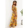 Image of Women Floral Oblique One Shoulder Maxi Long Dress Summer Beach Holiday Sundress | Edlpe