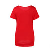 Image of Concise Style Pregnant Solid Color Short Sleeves Round Neck T-Shirt Top | Edlpe