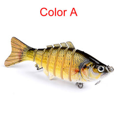 10cm Multi Jointed Hard Fishing Tackle Lure Swim-bait Hard Bait Crank-bait Pike