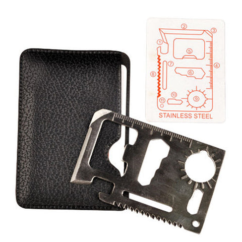 Multi Tool 11 In 1 Hunting Survival Pocket Credit Card Knife Stainless Steel | Edlpe