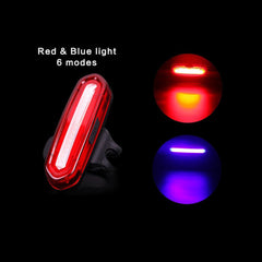 Super Bright Bike Tail LED Light USB Rechargeable Safety Warning Lamp