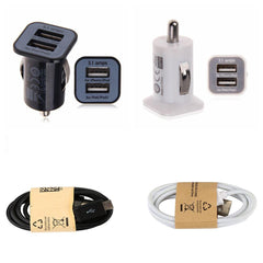 DC 5V 3.1A Dual Cigar Lighter 2.1A USB Car Charger Vehicle Mini  Car Charger Adapter for Phone