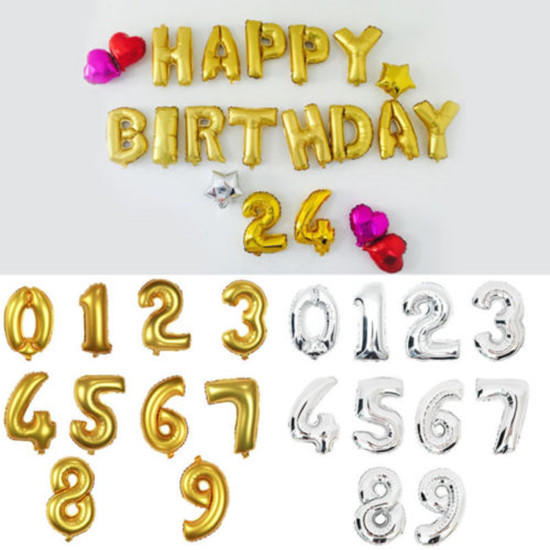 16 Large Foil - 9 Number Party Decoration Baloons Wedding Anniversary Gifts | Edlpe