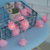 Image of 20/40 Led Rose Flower String Fairy Lights Battery/usb Power Wedding Xmas Decor | Edlpe