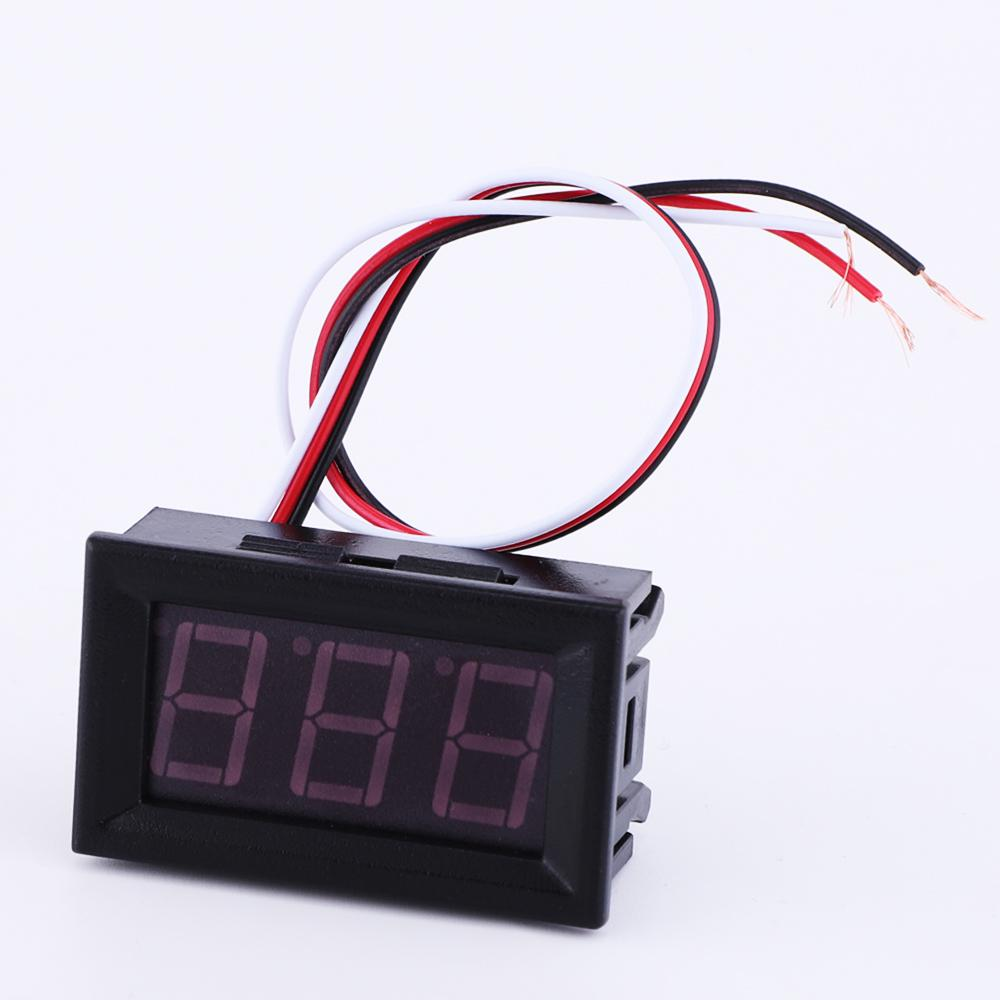Red Blue Green Led Dc 100V Meter Pannel Display Volt Voltmeter Gauge | Edlpe