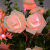 Image of 20 Led Rose Flash Led String Lights Battery Wedding Xmas Decor Led Lumineuse | Edlpe
