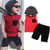 Image of 2Pcs Toddler Kids Boys Camo Sleeveless Hoodie Top Tshirt Ribbed Shorts Pants Outfits Clothes Set | Edlpe