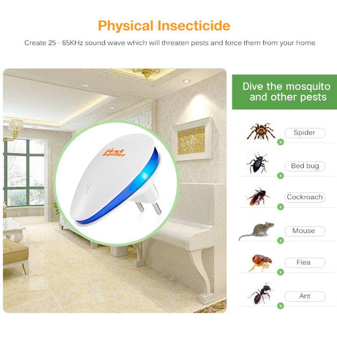 Electronic Pest Repeller Killer Ultrasonic Rejector Mouse Mosquito Rat Mouse Repellent Anti Mosquito | Edlpe