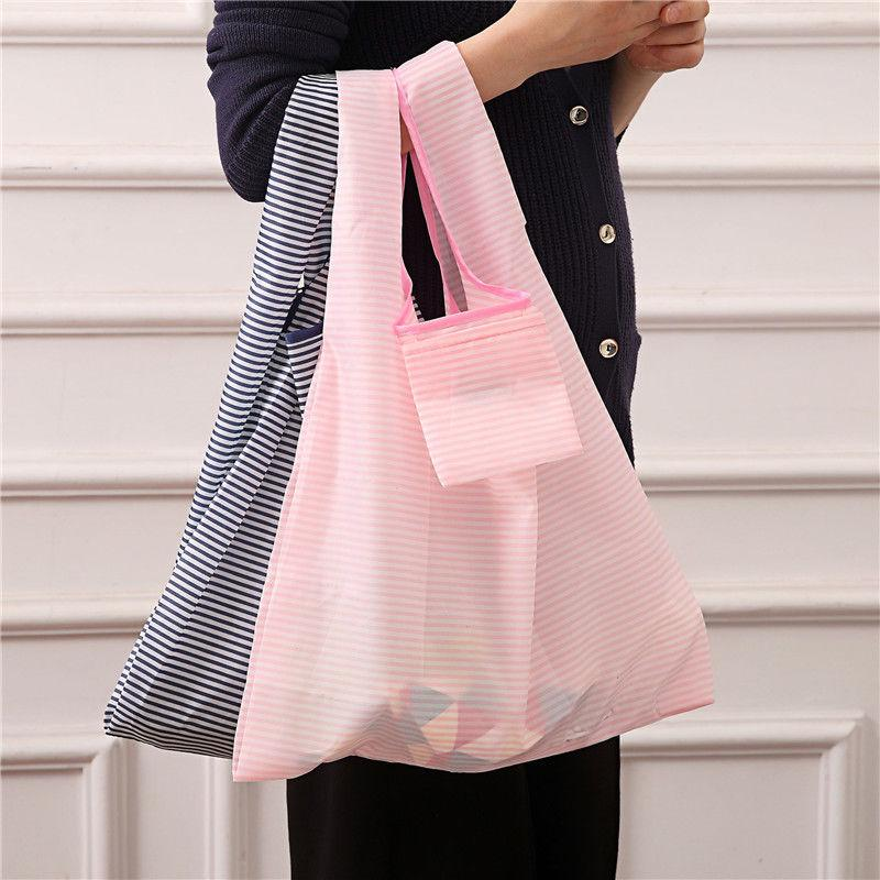 Large Capacity Reusable Folding Shopping Bags Fashion Foldable Beach Shopping Bags Grocery | Edlpe