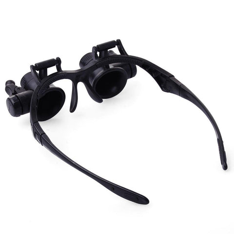 Double Eye Glasses Loupe Lens Jeweler Watch Repair 10X 15X 20X 25X Led Magnifier | Edlpe