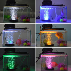 Led Aquarium Light Fish Tank Lamp Bubble Air Stone Underwater Color Changing Led Remote Control | Edlpe