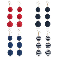 Disposable Waterproof Wax Line Earrings Manual Winding Ball Tassel Stud | Edlpe