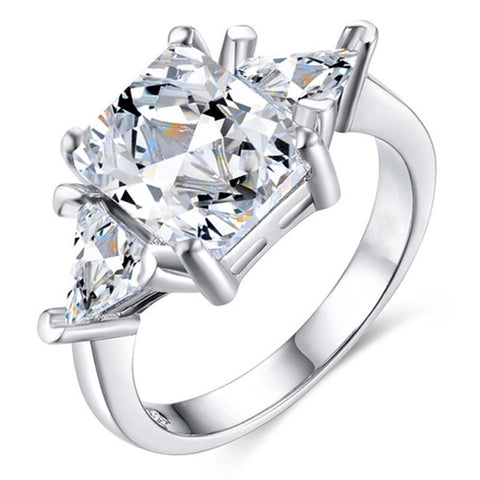 Dazzling Princess Cut Ring Anniversary Bridal Wedding Engagement Jewelry | Edlpe