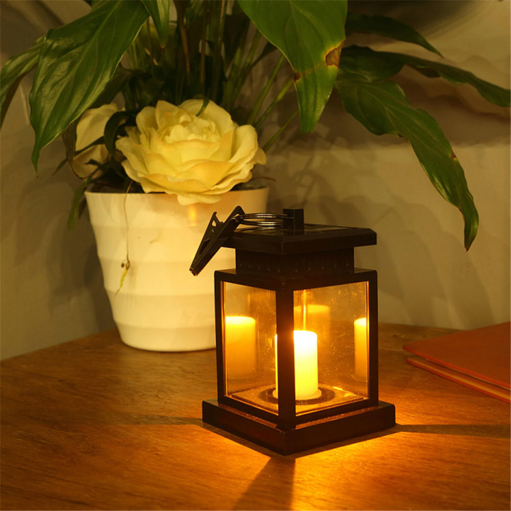 Solar Power Led Candle Light Outdoor Garden Yard Landscape Lantern Hanging Lamp | Edlpe