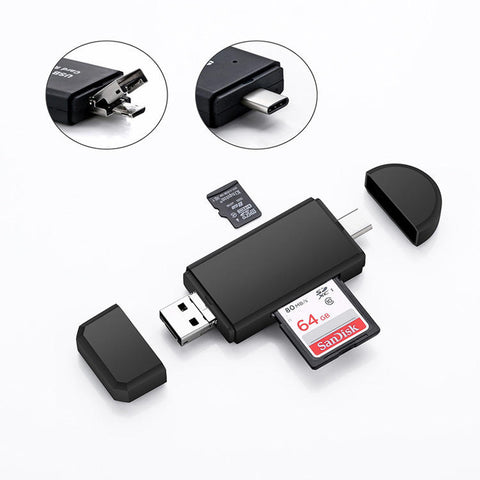 Micro Usb Otg To Usb 2.0 Adapter Sd/micro Sd Memory Card Reader For Smartphone | Edlpe