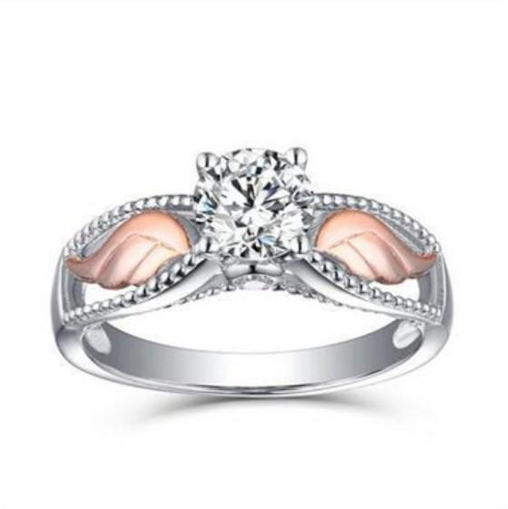 Fashion Korean Small Shiny Angel Wings Classic Fashion Ring Wedding Ring Proposal Gift | Edlpe