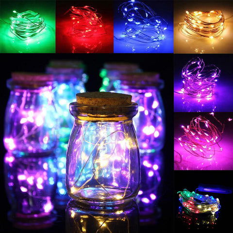Battery Power Led Battery Operated Copper Wire Mini Fairy String Light 1M Party Decor | Edlpe