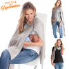 Image of Womens Solid Irregular Maternity Breast Feeding Aw Cover Ladies Tunic Robe | Edlpe