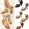 Image of Womens Modern Ballroom Latin Tango Dance Shoes 5Cm High Heel Ankle Buckle Sandals Party Shoe | Edlpe