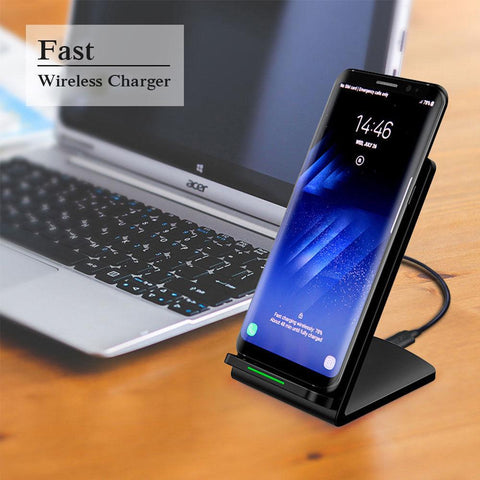 Upgraded Qi Pad Stand Fast Wireless Chargers For Iphone Android | Edlpe
