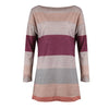 Image of Long Sleeve Crew Neck Contrast Color Knitted Sweater Jumper Tops Pullovers