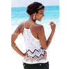 Image of Women Summer Sleeveless Harness Tank Top Floral Lace Up Cami Strappy Top Beach Blouse | Edlpe