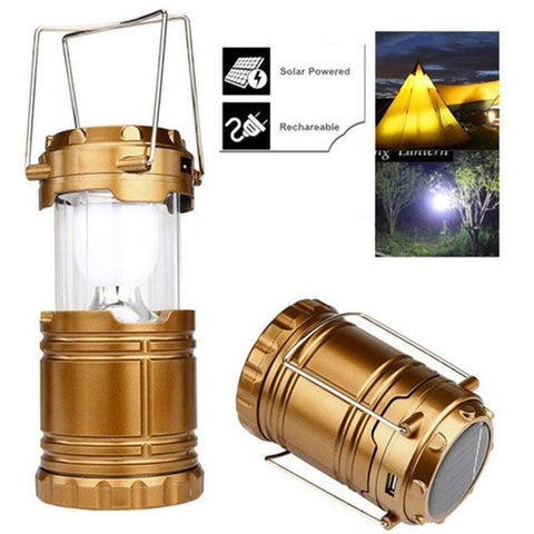 Solar Powered Hanging Lanterns Tent Rechargeable Outdoor Led Camping Lights | Edlpe