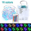 Image of Led String Lights Battery Usb Powered Waterproof 5M 50Leds Remote Control Christmas Costumes | Edlpe