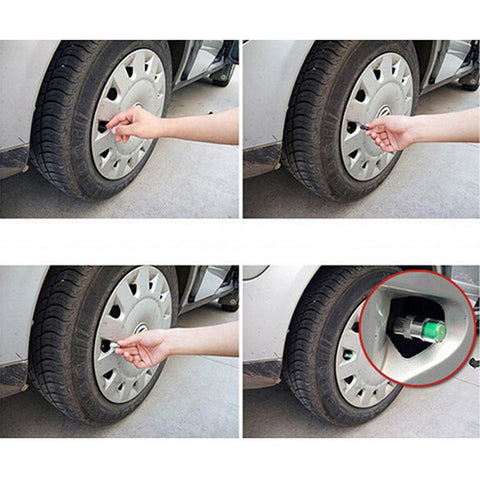 Tire Car Auto Tyre Pressure Monitor Valve Stem Cap Sensor Indicator Warning | Edlpe